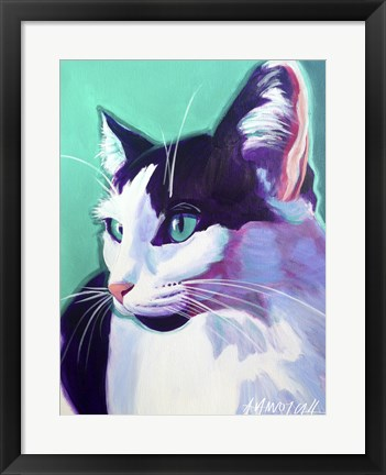 Framed Cat Kitty Print