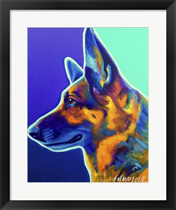 Framed German Shepherd Schatze Print