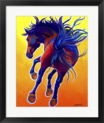 Framed Horse Kick Up Your Heels Print