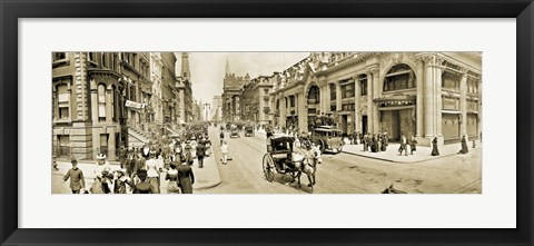 Framed Fifth Ave 1902 Print