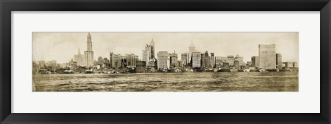 Framed NYC Skyline 1911 Print