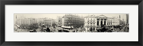Framed Picadilly Circus London 1900 Print