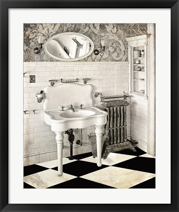 Framed Victorian Bathroom Print
