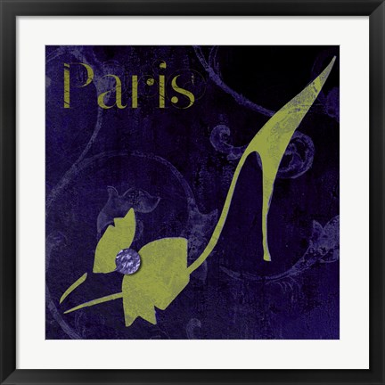 Framed Paris Shoes Print