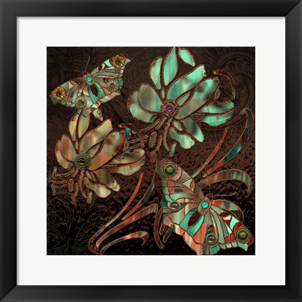 Framed Copper Butterflies Print