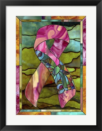 Framed Breast Cancer Ribbon Print