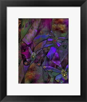 Framed Butterfly Jewels Print