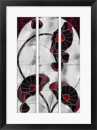 Framed Art Nouveau Poppies Print