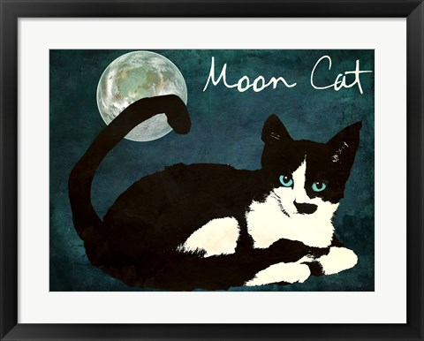 Framed Mooncat Print