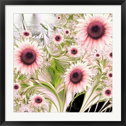 Framed Water Sunflowers Print