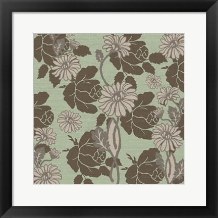 Framed Roses and Linen Print