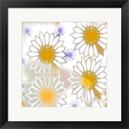Framed Playful Daisies Print