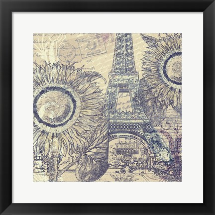 Framed Paris Pastiche II Print