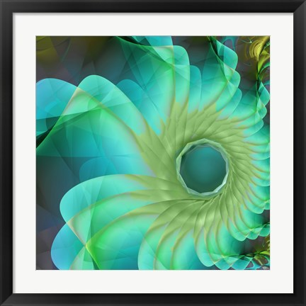 Framed Aqua in Bloom Print