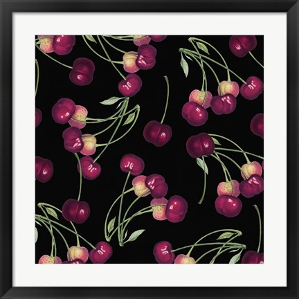 Framed Nature's Bounty -  Cherries Print
