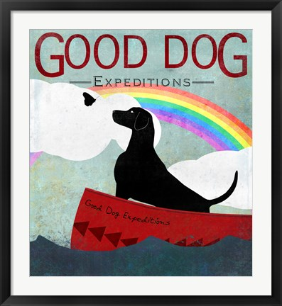 Framed Good Dog Expectations I Print