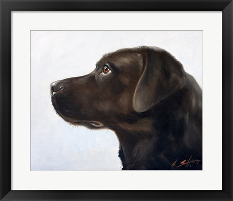 Framed Black Lab 1 Print