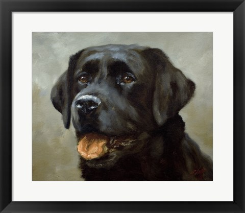Framed Black Lab 6 Print
