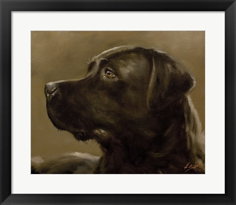 Framed Black Lab 9 Print