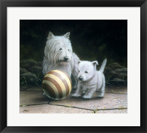 Framed Westies Print