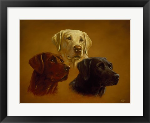 Framed Portrait of Three Print