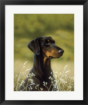 Framed Poised Print