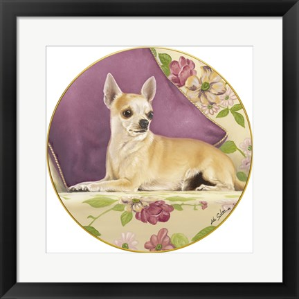 Framed Chihuahua With Pillow Print