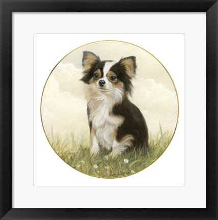 Framed Chihuahua in Field Print