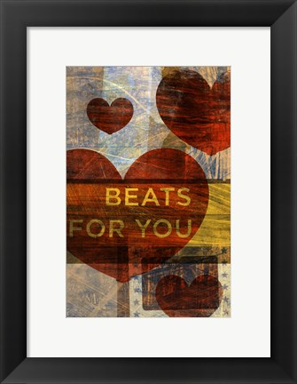 Framed Beats for You Print