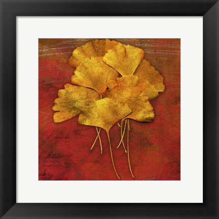 Framed Gingkos #2 Print