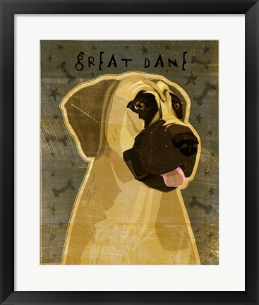 Framed Great Dane 2 Print