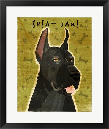 Framed Great Dane 3 Print