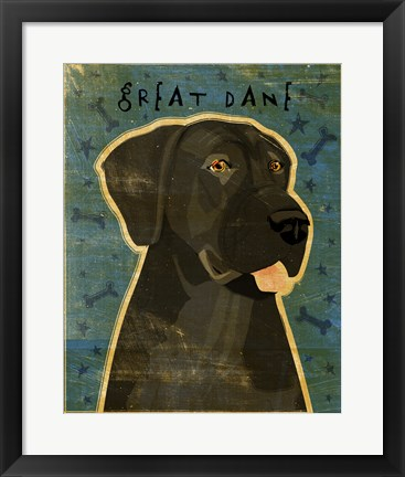 Framed Great Dane 4 Print