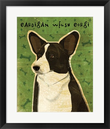 Framed Cardigan Welsh Corgi Print