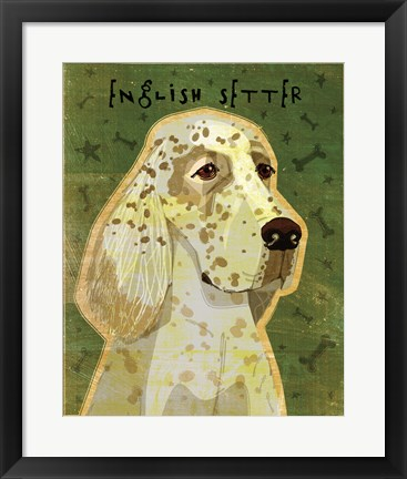 Framed English Setter Print