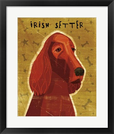 Framed Irish Setter Print