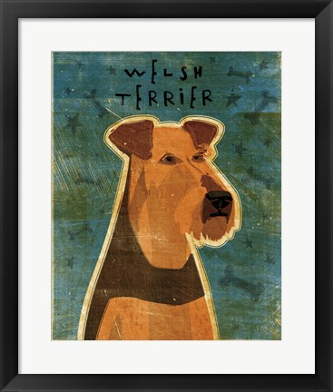 Framed Welsh Terrier Print