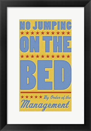 Framed No Jumping On The Bed - Boy Print