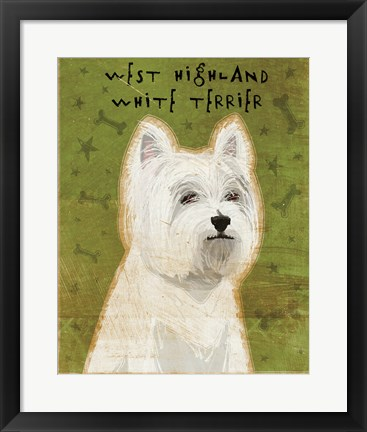 Framed West Highland Terrier Print