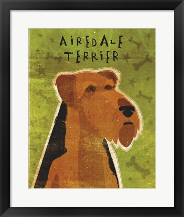 Framed Airedale Print