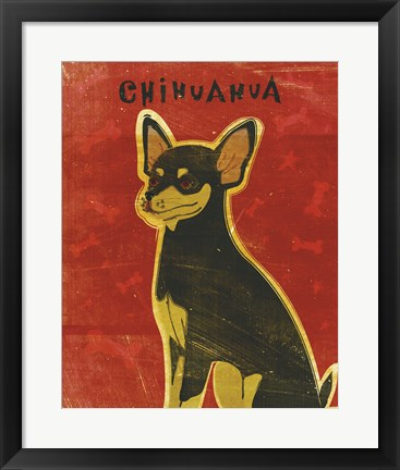 Framed Chihuahua (black and tan) Print