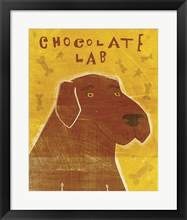 Framed Lab (chocolate) Print