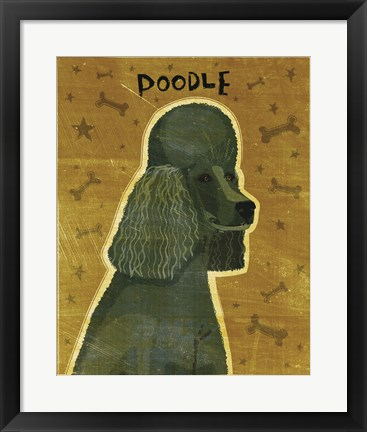 Framed Poodle (black) Print