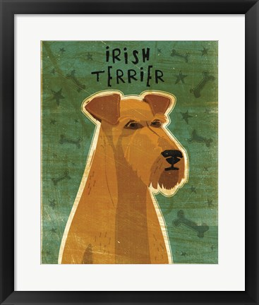 Framed Irish Terrier Print