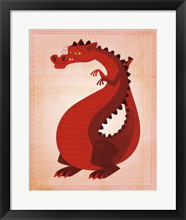 Framed Red Dragon Print