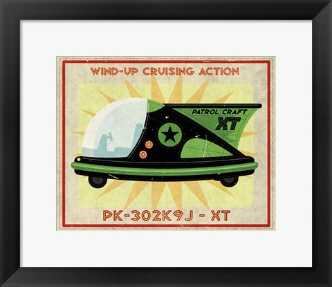 Framed Patrol Craft XT Box Art Tin Toy Print