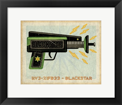 Framed Blackstar Ray Gun Print