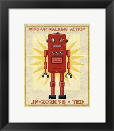 Framed Ted Box Art Robot Print