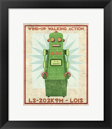Framed Lois Box Art Robot Print