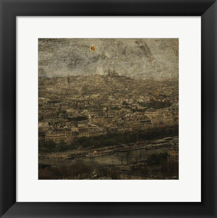 Framed Paris Skyline II Print